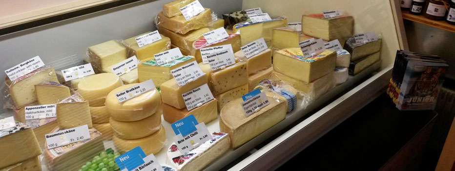Verkauf unserer Käsespezialität